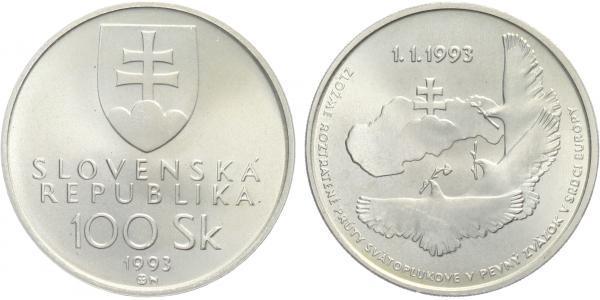 100 Sk 1993 - Vznik Slovenské republiky, bežná kvalita