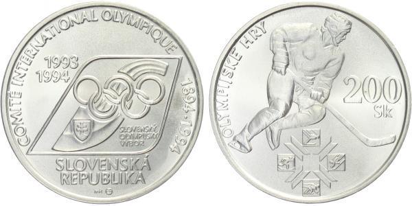 200 Sk 1994 - Mezinárodní olympijský výbor, běžná kvalita