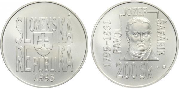 200 Sk 1995 - Pavol Jozef Šafařík, běžná kvalita