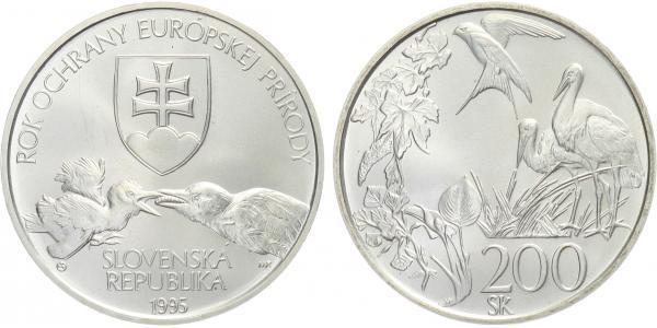 200 Sk 1995 - Rok ochrany evropské přírody, bežná kvalita