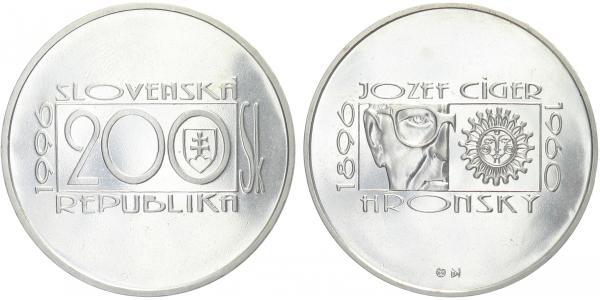 200 Sk 1996 - Jozef Cígler Hronský, bežná kvalita
