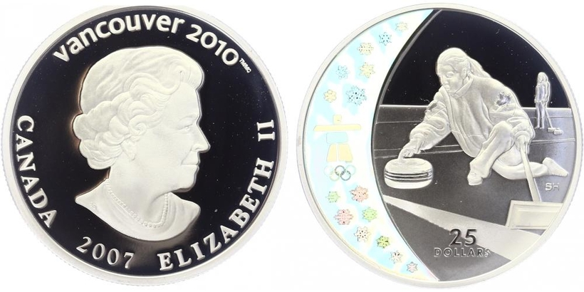 25 Dollar 2007 - OH Vancouver 2010, PROOF