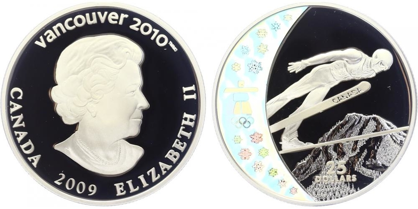 25 Dollar 2009 - OH Vancouver 2010, PROOF