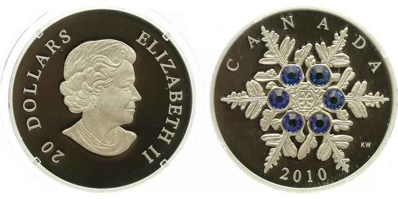 Kanada, 20 Dollar 2010 - Sněhová vločka, PROOF