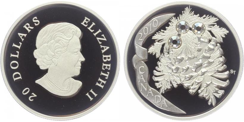 20 Dollar 2010 - Borovicové šišky, PROOF