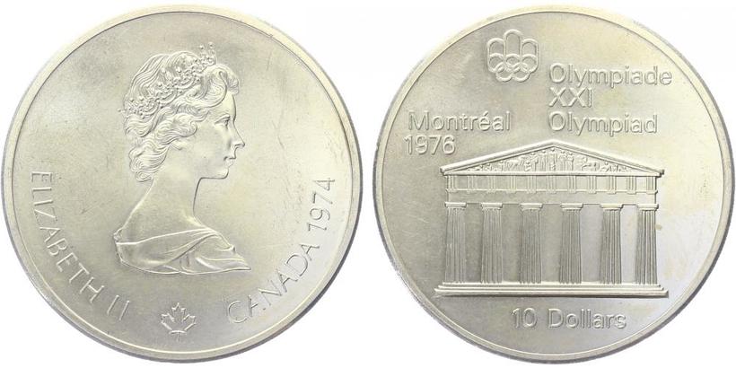 10 Dollar 1974 - OH Montreal 1976, běžná kvalita