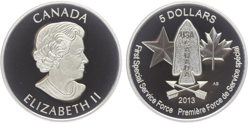 5 Dollar 2013 - 1. Speciál Service Force, PROOF