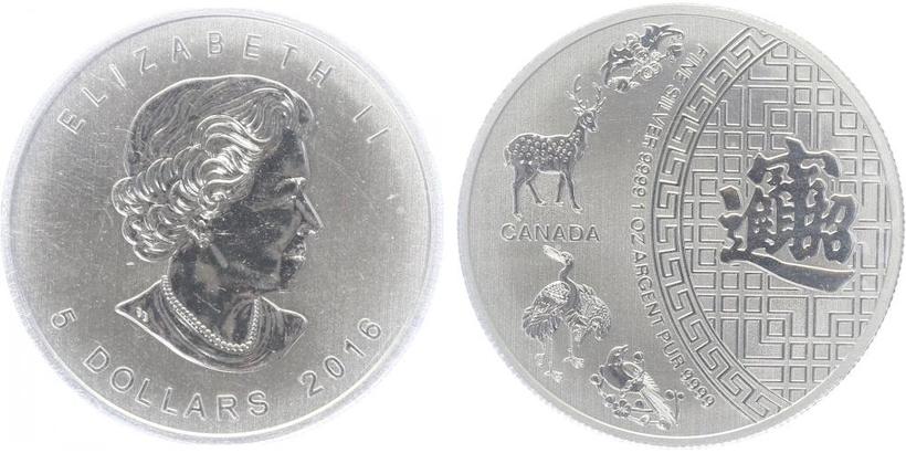 5 Dollar 2017 - 150. výročí založení Spojeného království