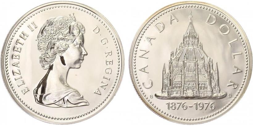 Dollar 1976 - 100. výročí parlamentní knihovny, běžná kvalita
