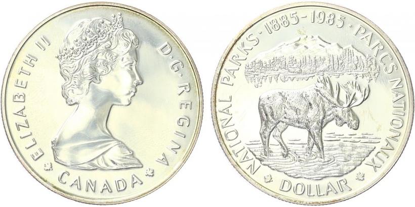 Dollar 1985 - 100. výročí Národního parku