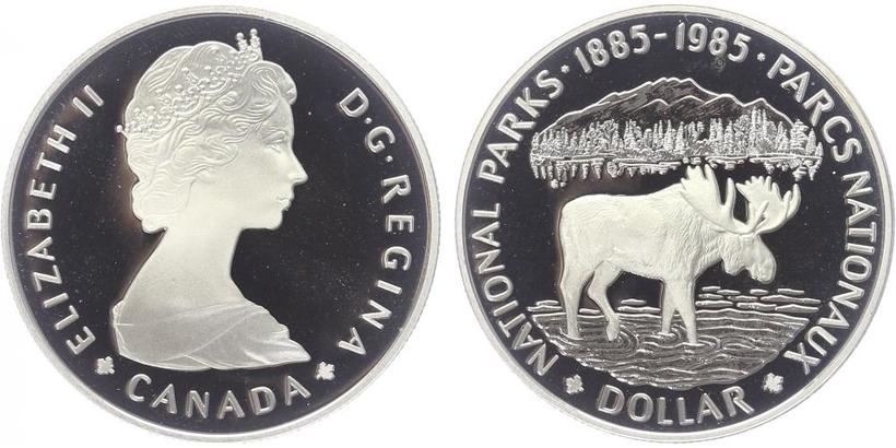 Dollar 1985 - 100. výročí Národního parku, PROOF