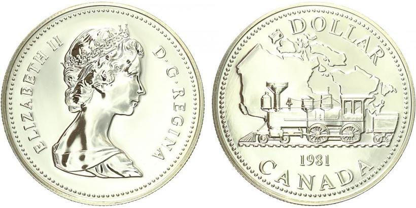 Kanada, Dollar 1981 - transkontinentální železnice