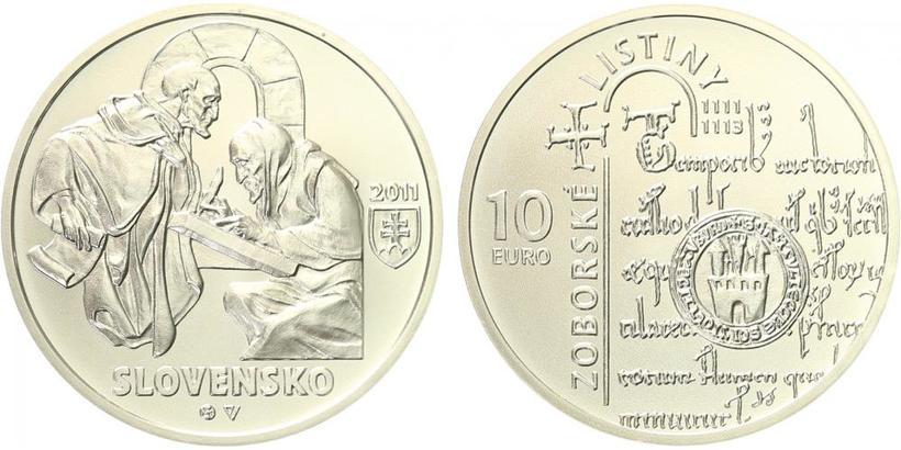 20 Euro 2010 - Zoborské listiny - 900. výročí vzniku, b.k.