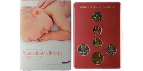 Ročníková sada mincí 2005 - narození dítěte