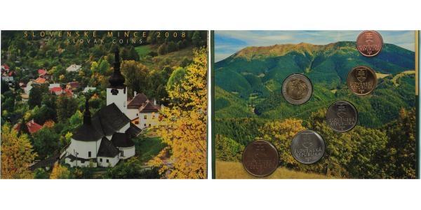 Ročníková sada mincí 2008 - Pohronie, Horehronie, Podpoľanie, Liptov