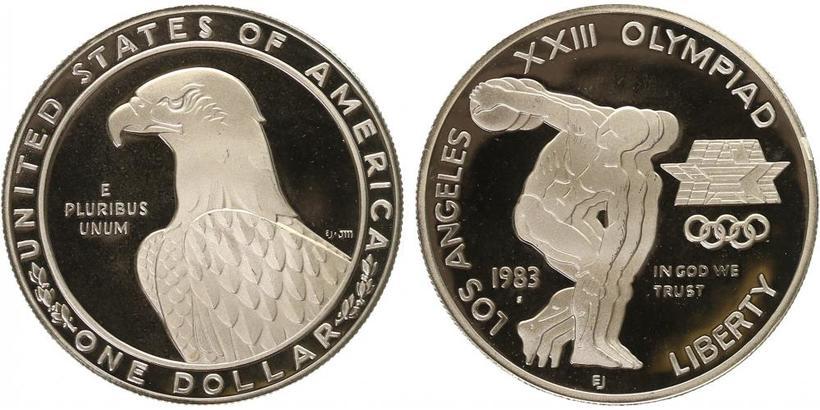 Dollar 1983 - XXIII. olympiáda v Los Angeles, PROOF