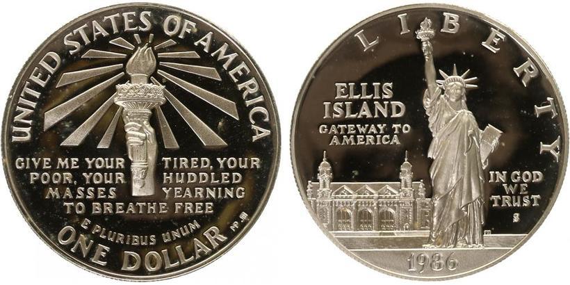 1 Dollar 1986 - Ag 0,900 (26,63 g), PROOF