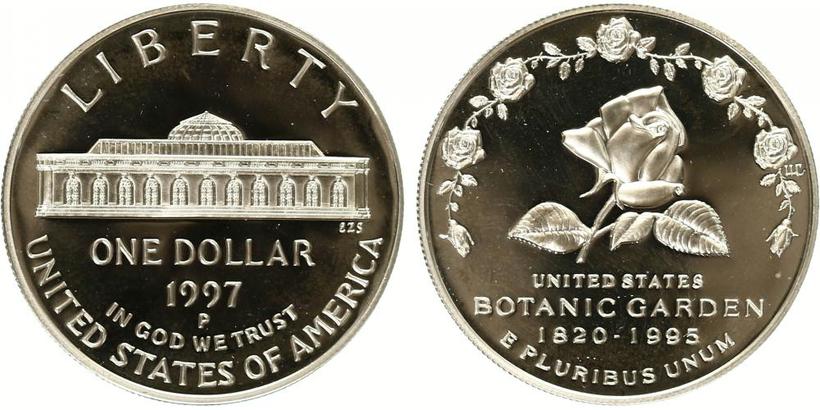 1 Dollar 1997 - U. S. Botanic gardens, PROOF