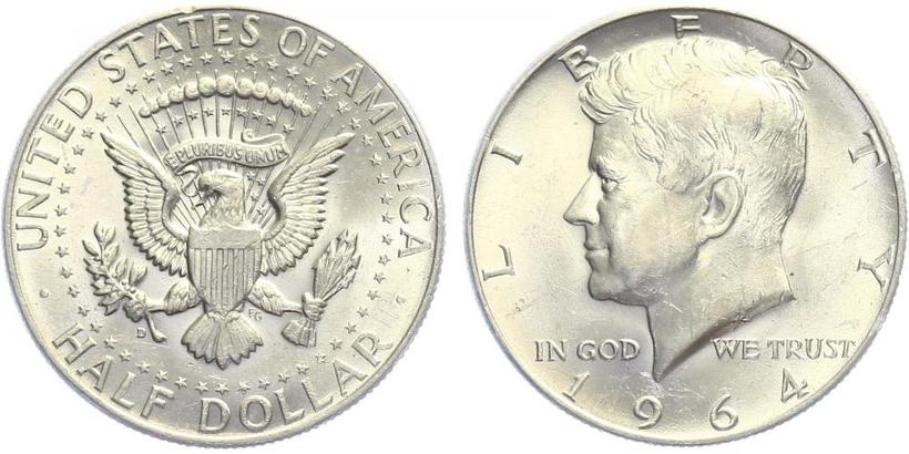 USA, 1/2 Dollar 1964