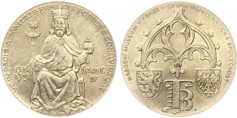 AR Medaile 1978 - Karel IV. 1316 - 1378, PROOF