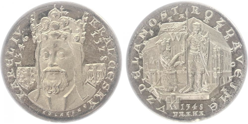 AR Medaile 1978 - Karel IV., Universita Karolina, PROOF