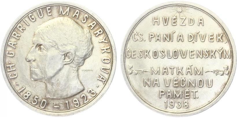 AR Medaile 1938 - CH. Garrigue Masaryková
