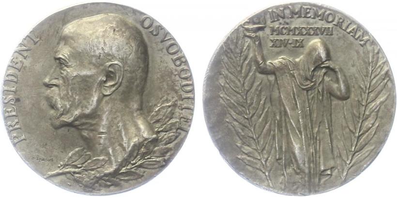 AR Medaile 1937 - K úmrtí T. G. Masaryka