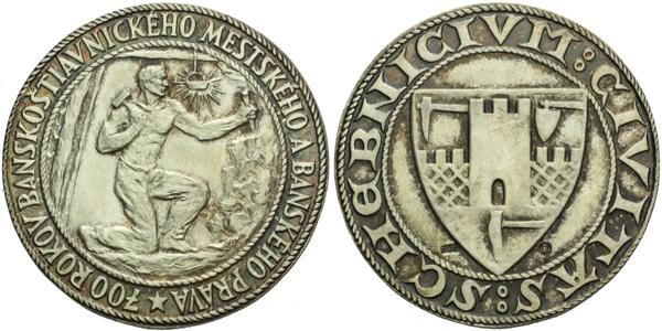 AR Medaile b.l. - 700 let Banskoštiavnického městského a báňského práva