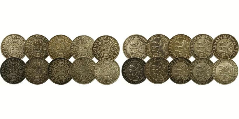 AR Medaile b.l. - Soubor 10 kusů Kutnohorských pamětních grošů 1949