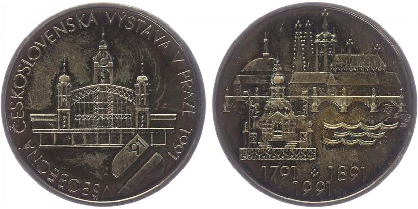 AR Medaile 1991 - Všeobecná Československá výstava v Praze 1991, původní etue a certifikát