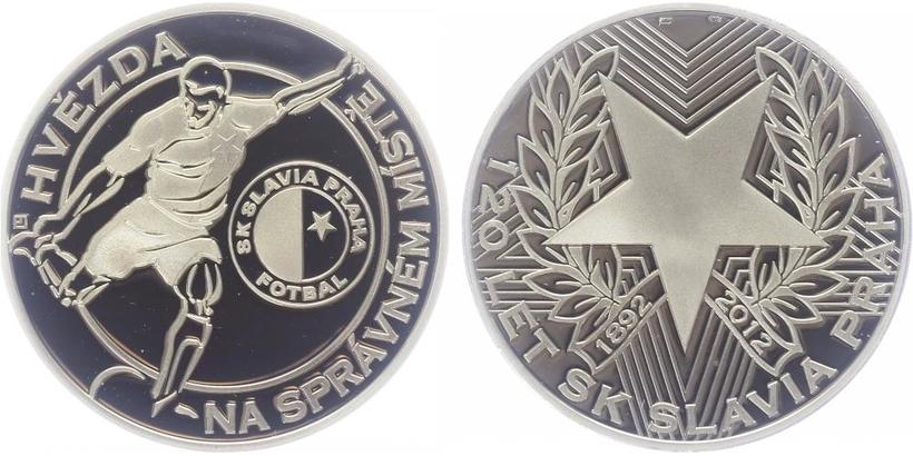 AR Medaile 2012 - 120 let SK Slavia Praha, PROOF