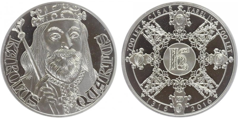 AR Medaile 2016 - Karel IV., PROOF