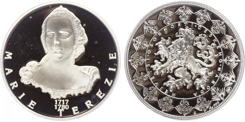 AR Medaile b.l. - Největší osobnosti českého národa - Marie Terezie, PROOF
