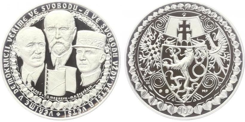 AR Medaile b.l. - Vznik ČSR, PROOF