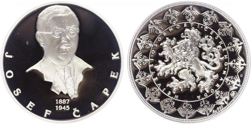 AR Medaile b.l. - Největší osobnosti českého národa - Josef Čapek, PROOF