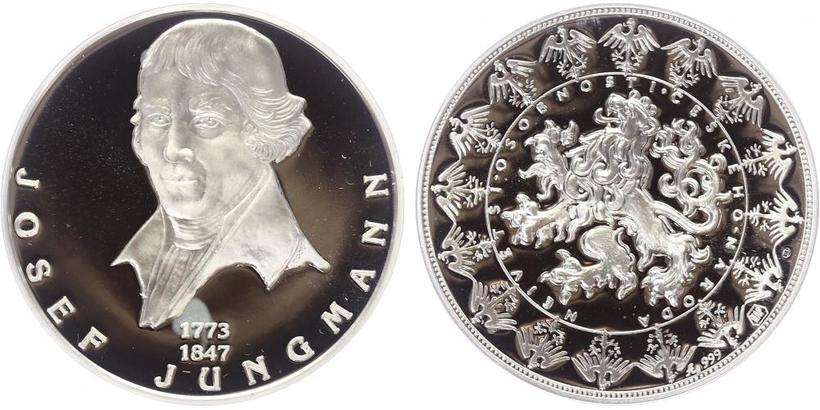 AR Medaile b.l. - Největší osobnosti českého národa - Josef Jungmann, PROOF