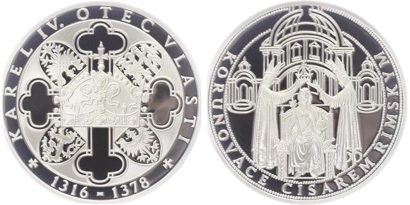 AR Medaile b.l. - Život Karla IV. - Otec vlasti, PROOF