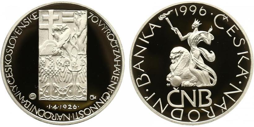 AR Medaile 1996 - 70. výročí založení Národní banky Československé, PROOF