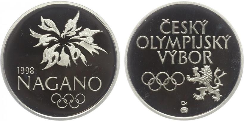 AR Medaile 1998 - Nagano hokej, PROOF