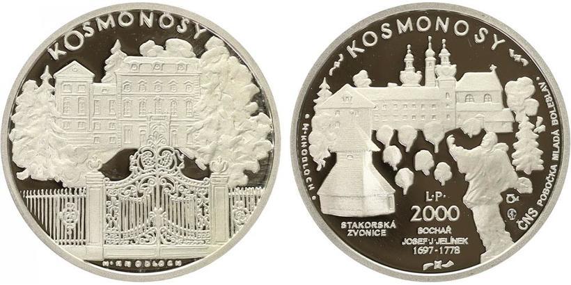 Česká mincovna, medaile 2000 - Kosmonosy L. P. 2000, PROOF