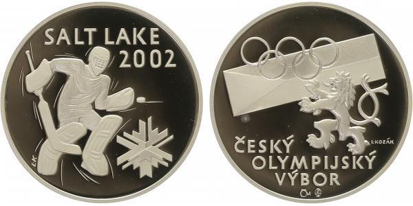 AR Medaile 2002 (L. Kozák) - Hokej Salt Lake City, PROOF