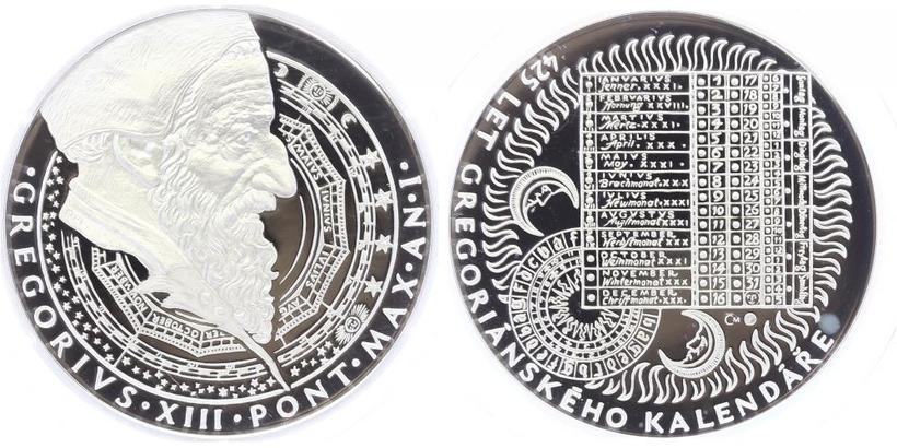 AR Medaile b.l. - 425 let od přijetí gregoriánského kalendáře
