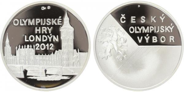 AR Medaile 2012 - OH Londýn, Ag 0,999, 34 mm (16 g), kapsle, etue, certifikát, PROOF,