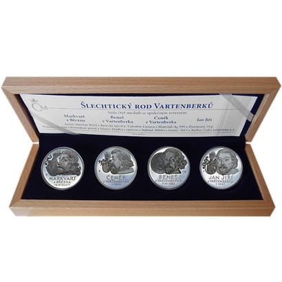 AR Medaile 2012 - Sada 4 kusů medailí se společným reversem - Šlechtický rod Vartenbe