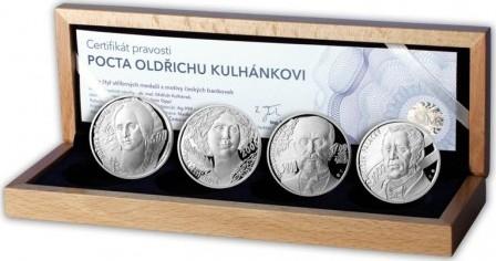 AR Medaile 2012 - Sada 4 kusů medailí - Pocta Odřichu Kulhánkovi, PROOF