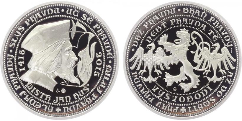 Stříbrná medaile 2015 - Mistr Jan Hus, PROOF