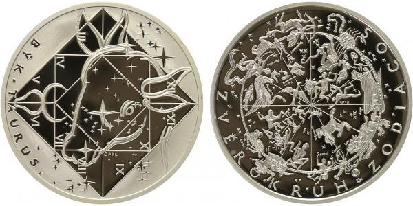 AR Medaile b.l. - Znamení zvěrokruhu, Býk - Taurus, PROOF