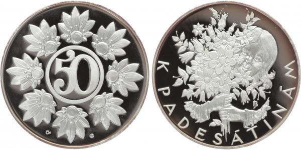 AR Medaile b.l. - Medaile k životnímu jubileu 50 let, PROOF
