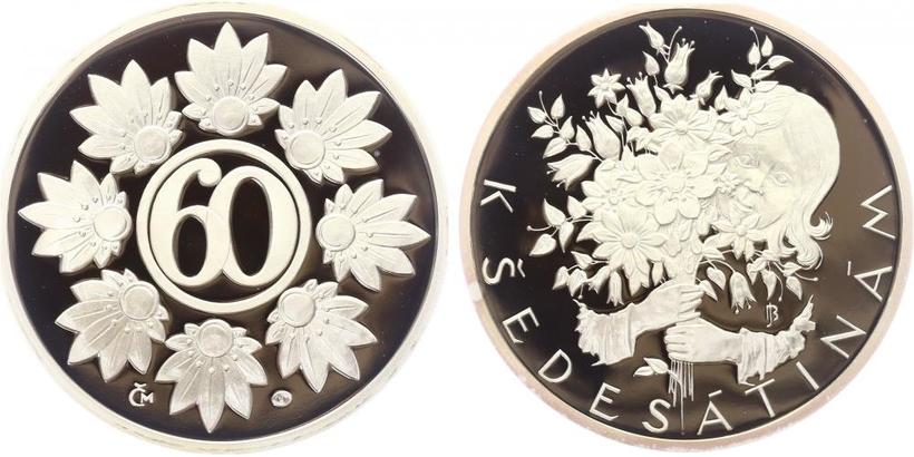 AR Medaile b.l. - Medaile k životnímu jubileu 60 let, PROOF