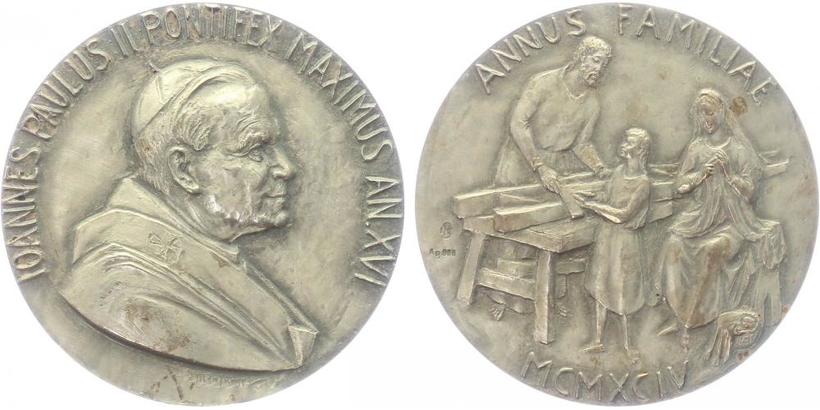 AR Medaile 1994 - Jan Pavel II. - Rok rodiny
